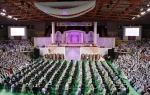 총 186개국의 1천7백여쌍의 선남선녀가 참가한 예식의 전경
