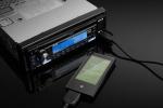 JMP3-105U 와 삼성 Yepp P2를 연결한 사진