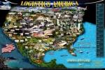 미국에서 발행되는 물류산업 홍보 지도