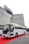 현대차, 차세대 고품격 대형버스 '유니버스' 일본 출시