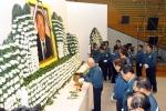 현대중공업은 19일(금) 오전 8시 울산 본사 사내 체육관에서 창업자인 故 아산 정주영을 기리는 추모식을 가졌다.