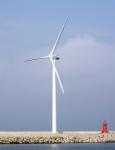 현대중공업이 지난 2009년 6월 울산 본사 내 설치, 가동 중인 1.65MW급 풍력발전기 모습