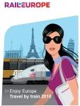 '파울로 마리오띠'의 일러스트를 이용한 '2010년 유럽 기차여행' 브로셔