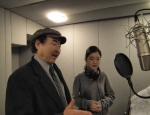 테너 박인수와 손녀 조성주 녹음하는 모습 (사진제공: 웰컴)