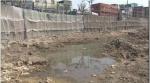 'KBS 뉴스9'에서 방영된 오염 속에 방치된 뉴타운 공사현장
