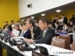 UN 제19차 지속가능발전위원회 정규session에 참가한 이경율대표 모습