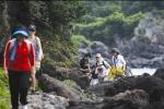 올레를 걷기 위해 제주를 찾는 젊은이들이 늘어나고 있다 / 사진 김진석