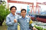 2011년 신지식인으로 선정된 김귀섭 기장(왼쪽)과 김수만 기원(오른쪽)
