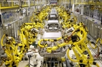 현대중공업이 기아차 슬로바키아 공장에 설치한 산업용 로봇