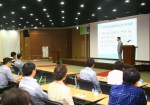 '현중리더십 컨퍼런스'에서 강연 중인 현대중공업 강창준 해양사업본부장