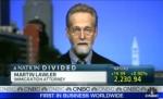 미 NBC 방송에 출연한 국제이주개발공사의 마틴롤러 변호사