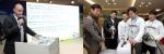 아시아 태평양 본부장 Gregory Lienard(그레고리 리이날드)씨가 리레코 코리아 임직원을 대상으로 2012년도 리레코의 비전과 목표에 대한 발표를 하고 있다. (보도사진 좌측)