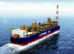 현대중공업 독자 개발해 최근 노르웨이 선급협회(DNV)로부터 기본 승인을 획득한 '현대 FLNG'의 조감도.