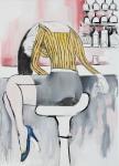 전시회'돌아가자,장미여관으로' 출품작 _이재우_bar에 앉은 여자_72.7cmx53.0cm_oil on canvas_2011 (사진제공: 43 Inverness Street)