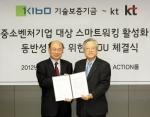 (좌)기술보증기금 김정국 이사장, (우)KT 이석채 회장
