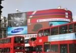 피카디리 서커스 옥외광고판에서 상영중인 뉴 '시리즈9' 영상 광고 (사진제공: 삼성전자)