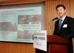 분찹(Boonchob Suthamanuswong) 태국관 총괄이 24일 서울 한남동 주한 태국대사관에서 열린 기자회견을 통해 태국관의 전시 내용에 대해 설명하고 있다.