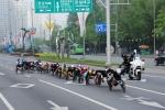 지난해 5월 열린 '제20회 서울국제휠체어마라톤대회'에 참가한 국내외 휠체어마라토너들의 역주 모습. (사진제공: 한국지체장애인협회)
