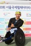 이번 대회에서 한국 선수 사상 '첫 우승'의 기대를 한몸에 받고 있는 홍석만 선수. (사진제공: 한국지체장애인협회)