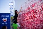 삼성전자가 폴란드 바르샤바 국립경기장에서 '아이 러브 폴란드' 행사를 갖고 현지 밀착형 스포츠 감성 마케팅을 시작했다. (사진제공: 삼성전자)