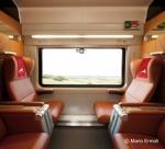 이탈리아의 새로운 초고속 열차 이딸로(Italo) 1등석 내부 (사진제공: 레일유럽)