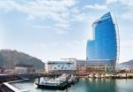 지난 3월 개장한 엠블(MVL)호텔 전경 박람회장 옆 오동도 인근에 위치하고 있다.