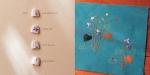 자수로 표현한 제비꽃의 한 생애. 한솔수북의 서른다섯 번째 그림책 <들꽃이 핍니다> 중. (사진제공: 한솔수북)