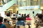 건국대병원은 지난 15일 정오 병원 지하1층 피아노라운지에서 간호사와 병원 직원 등으로 구성된 밴드 '코드 에이(Code-A)'가 '정오의 음악회'를 열었다고 밝혔다. (사진제공: 건국대학교)