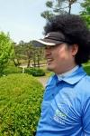 꿈발전소와 함께하는 소아암 어린이 돕기 연예인 자선골프대회에 참석한 개그맨 윤택 (사진제공: 국일미디어)