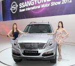 Ssangyong Motor, a part of the USD 14.4 billion Mahindra Group, unveiled the New Premium SUV, the Rexton W, for the first time at the 2012 Busan Motor Show held at Bexco on May 24. (사진제공: 쌍용자동차)