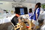 6월 3일 일본 사이타마 스타디움에서 열린 '2014 월드컵 아시아 지역 최종 예선'에서 모바일과 반도체 부문 공식 후원사인 삼성전자가 스타디움 내에 '삼성 갤럭시노트 스튜디오'를 마련하여 축구팬들에게 캐리커쳐 이벤트를 실시하고 있다. (사진제공: 삼성전자)
