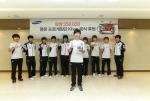 6월 13일 삼성전자는 프로게임단 KHAN 선수들에게 SSD를 제공하는 후원행사를 가졌다. 맨앞쪽 주장 송병구 선수를 비롯한 KHAN 선수들. (사진제공: 삼성전자)