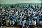 이날 설명회에서 청구중학교 학생들이 관심을 보이며 참여하고 있다 (사진제공: 레드휘슬)