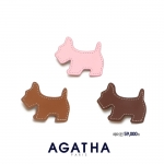 아가타 가죽 강아지 자동핀 (사진제공: 폴린컴퍼니)