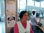 국립암센터 안내 봉사를 하고 있는 강양례 자원봉사자