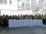사랑의 김치 자원봉사자들