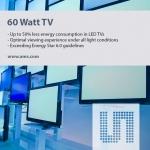 ams의 기술, 42인치 평면 패널 TV의 전력 소모를 60와트 전구 이하로 낮추다