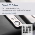 휴대폰 카메라의 보다 밝고 선명한 이미지를 구현케 하는 ams의 지능형 플래시 LED드라이버