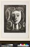 '피카소, 사랑을 그리다' 전시 주요 작품_소녀의 얼굴(프랑수아즈의 초상), 석판화, 49.4x39.3cm