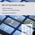 ams의 AS3911 NFC Reader IC를 이용한 비접촉 결제 단말기
