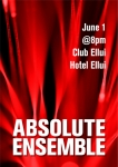 Absolute Ensemble first performance in Korea, to be held on June 1 at Club Ellui in Seoul. Pandora TV will be presenting a two-day exclusive live telecast of Absolute Tango performances