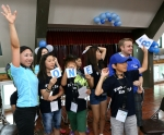 볼보트럭 여름 어린이 영어캠프에 참가한 어린이들