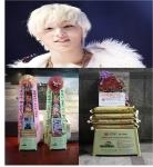 B.A.P 문종업이 팬들로 부터 받은 기부미쌀화환, 갈비화환 결식아동을 위해 기부했다.