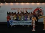 한국NPD개발원 해외연수단이 박람회 오픈행사에 참여했다.