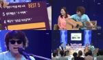 가수 홍서범이 롯데홈쇼핑 최유라쇼에 아내 조갑경과 함께 출연해 갱년기 여성을 위한 노래 베스트 5를 소개하고 라이브로 노래하고 있다.