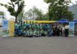 10일, 테트라팩 국내 법인 설립 30주년 기념 환경 캠페인 '에코 러브'에 참석한 테트라팩 전 직원들이 기념촬영을 하고 있다.