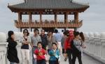 추석연휴를 맞아 많은 관광객들이 영일대를 찾았다.