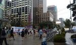 지난달 11일 오후 애국주의연대가 청계광장 동아일보앞에서 국정원 해체 반대 및 종북촛불 규탄 사진전을 개최했다.