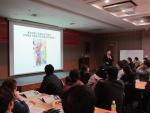 박영만 마케팅홍보연구소장이 시장 상인대학 홍보마케팅 교육을 진행하고 있다.