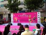 제2회 세계거리춤축제가 열린 12일 오후 서울 동대문구 장안로에서 바이올리니스트 박정은씨가 공연을 진행하고 있다.